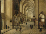 Interior of a Gothic Church by Hendrick van Steenwyck II - Architecture, Interiors Paintings from Hermitage Museum
