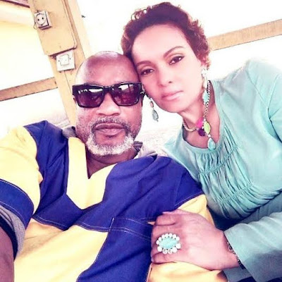 Embattled Congo musician, Koffi Olomide shares photo with his beautiful wife, Alaine