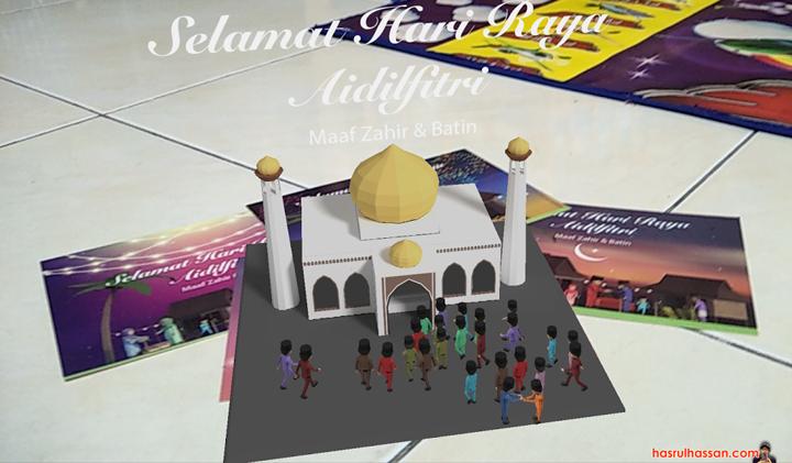 Poskad Raya Animasi Aidilfitri Pos Malaysia