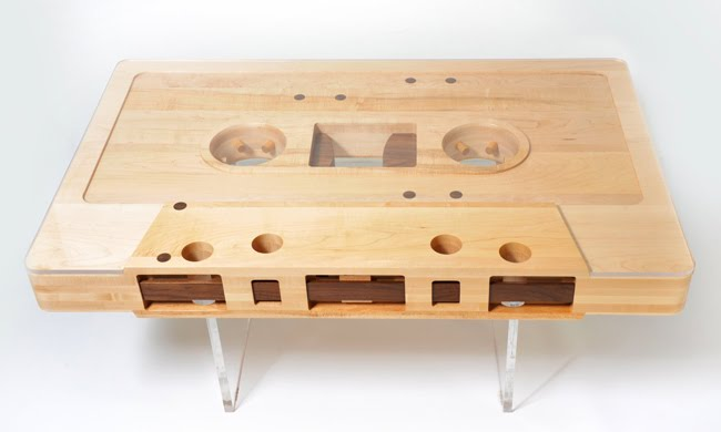 This unique handmade coffee table has been getting so much buzz that Seattle-based  designer/craftsman Jeff Skierka and his partner, graphic designer Roslyn ... - If It's Hip, It's Here (Archives): Reclaimed Wood Mixtape Coffee