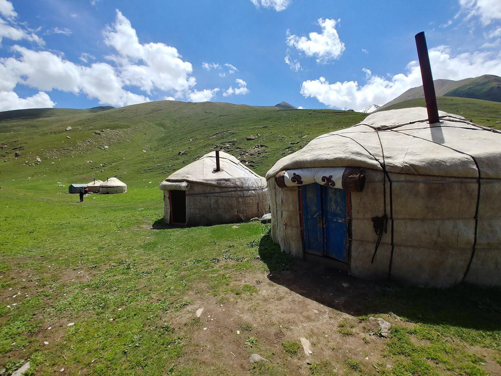 jezioro Kol Ukok Aral Kirgistan jurty