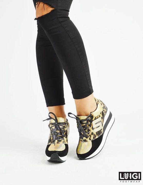 Sneakers με Πλατφόρμα σε Animal Print f968ed1c89b