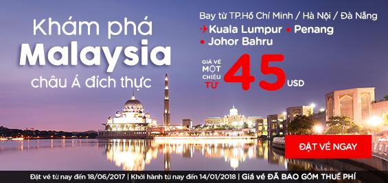 Cùng Air Asia khám phá Malaysia châu Á đích thực chỉ từ 45 USD