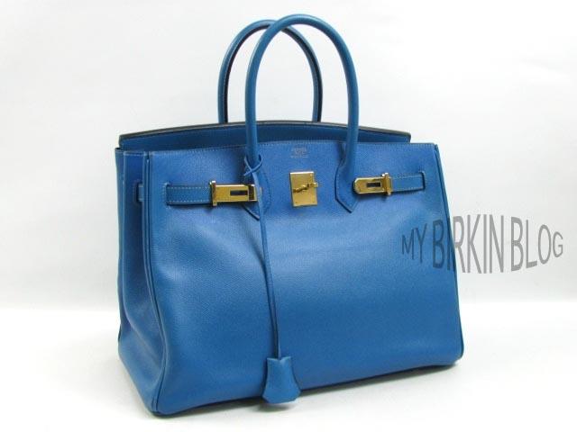 d5f473e804 My Birkin Blog  Store  Vintage HERMES Birkin Bag Blue French 35 CM