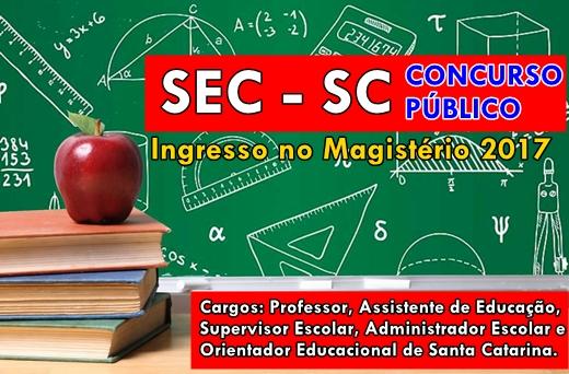Apostila SED - SC 2017: Concurso de Ingresso Magistério SC