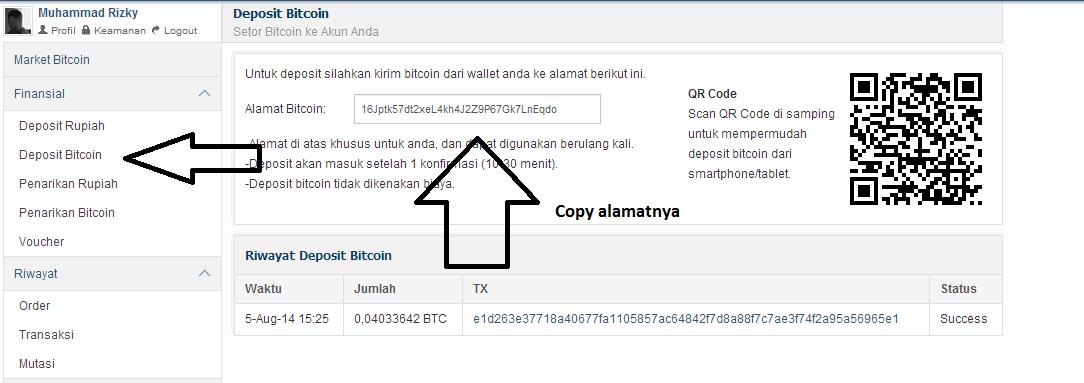 cara deposito btc di bitcoin co id