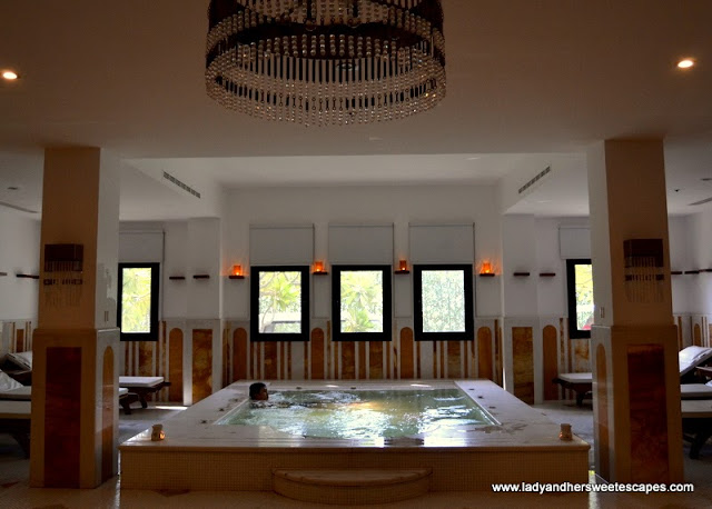 Indoor jacuzzi at The Cove Rotana