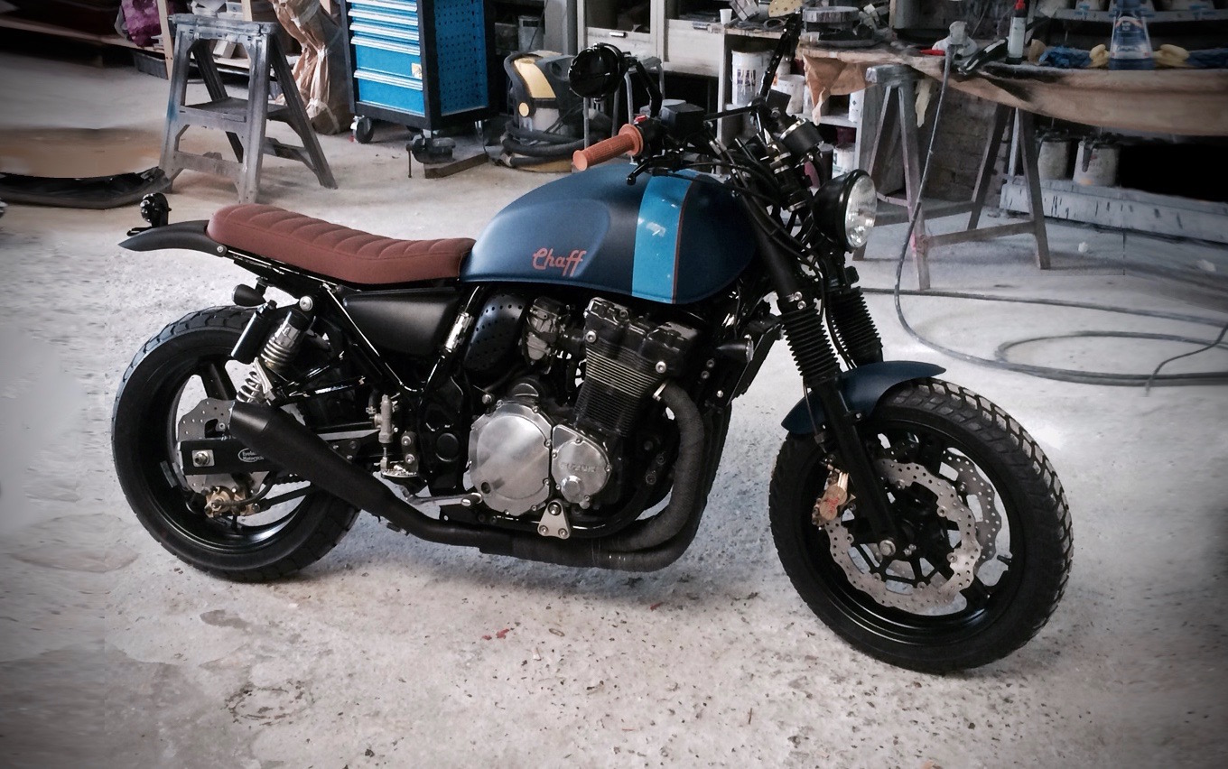 GSX Inazuma Chaff By Evolution Motorcycle Modern Classic Scrambler Style