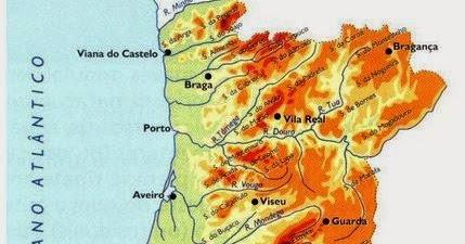 Aprender Mais Geografia Mapa Hipsometrico De Portugal Continental