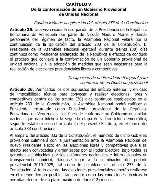 Conozca los pasos de la ruta de gobernabilidad propuesta por Guaidó