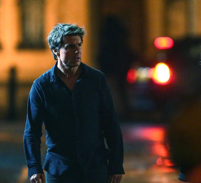 Tom Cruise pe platourile de filmare ale filmului The Mummy