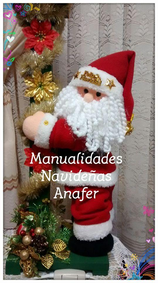 Manualidades Anafer Farol Papa Noel - Manualidades-navideas-papa-noel