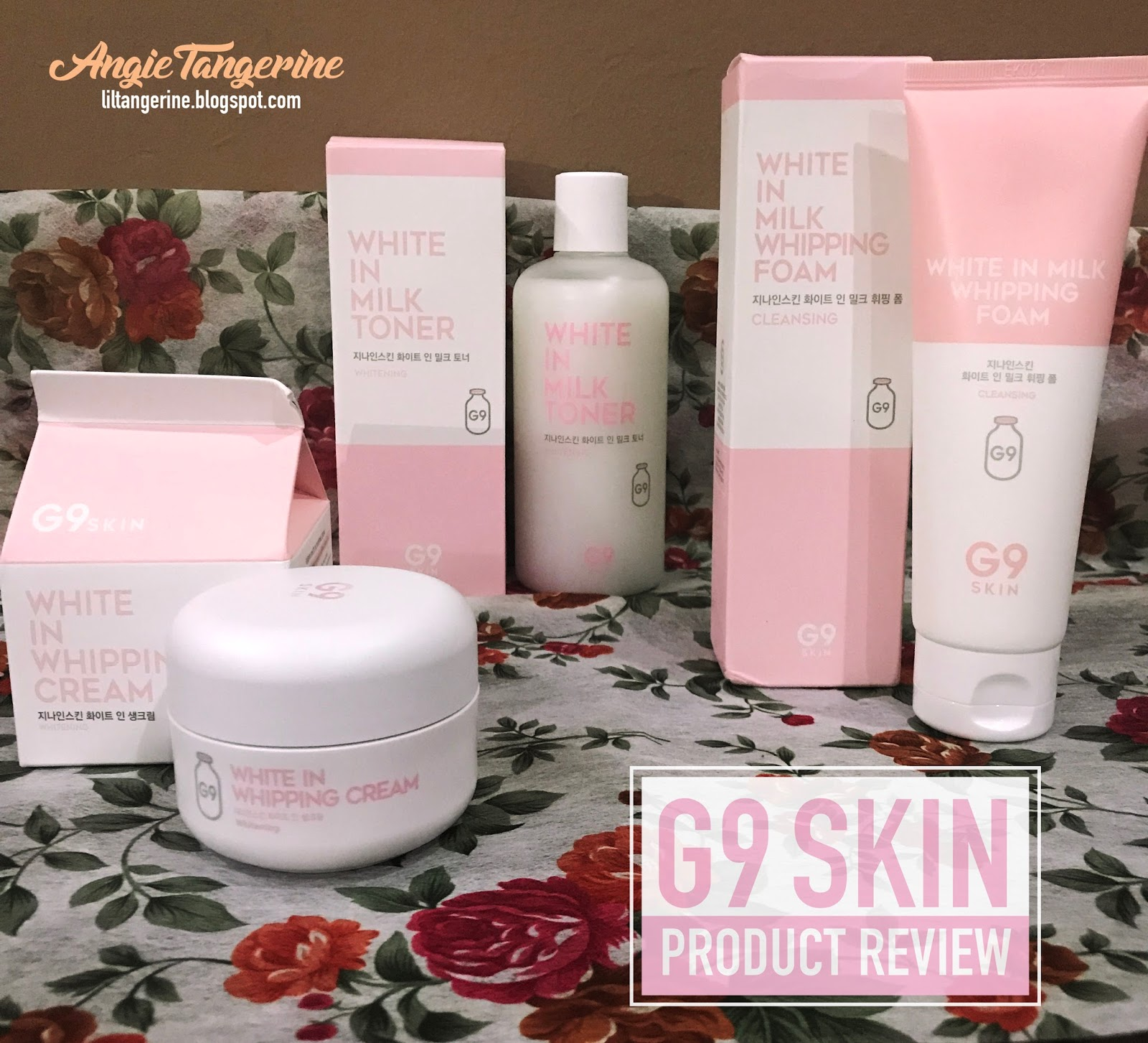 [Beauty Review] G9 Skin Whitening Products from Korea