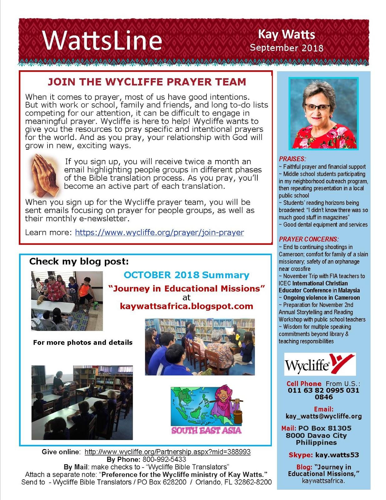Wycliffe Bible Translators Christian Mission t