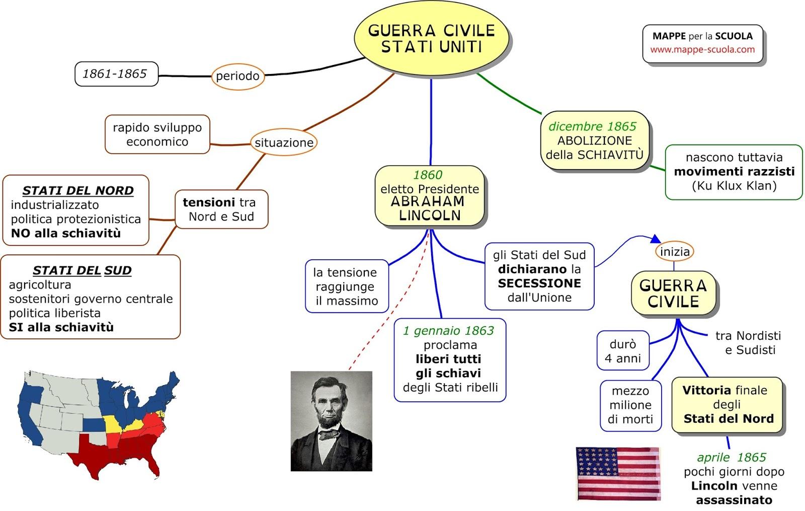 Mappe Per La Scuola Guerra Civile Americana