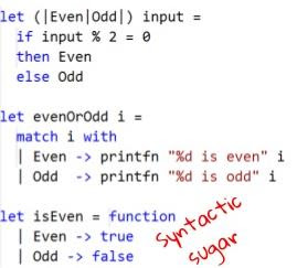 active patterns in F# code