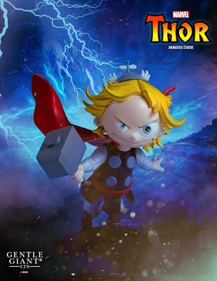 Thor Animated Marvel Mini Statue by Skottie Young & Gentle Giant