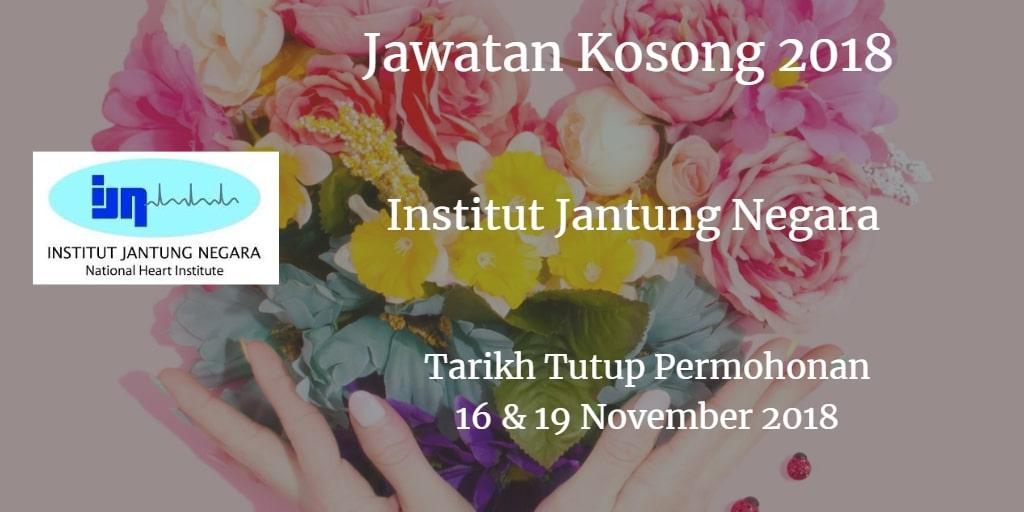 Jawatan Kosong IJN 16 & 19 November 2018