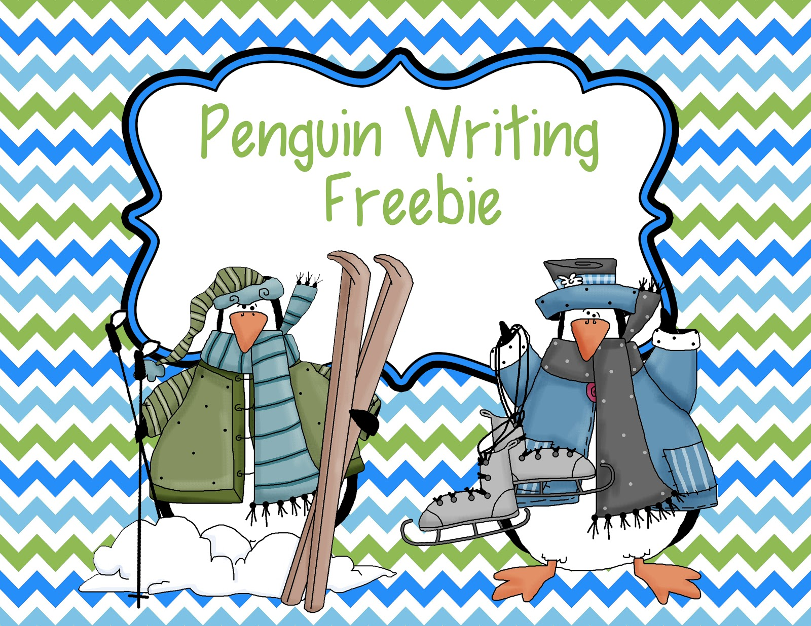 Penguin Writing Paper and Word Bank Freebie - Smiling and Shining in Second  Grade [ 1236 x 1600 Pixel ]