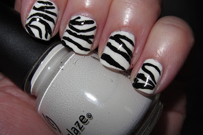 Marias Nail Art And Polish Blog Zebra Wildlife Animal Print Dyreprint