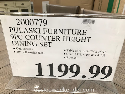 Deal for the Pulaski Furniture 9-piece Counter Height Dining Set at Costco
