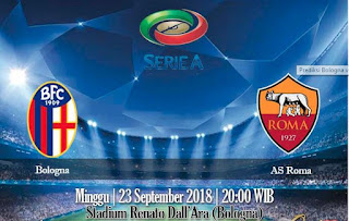 Prediksi Bologna vs AS Roma 23 September 2018