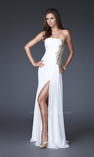 Long Cocktail Dresses 2012: Strapless Long White Cocktail