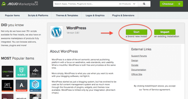 How to install Wordpress on Bluehost web hosting in 2018 - update