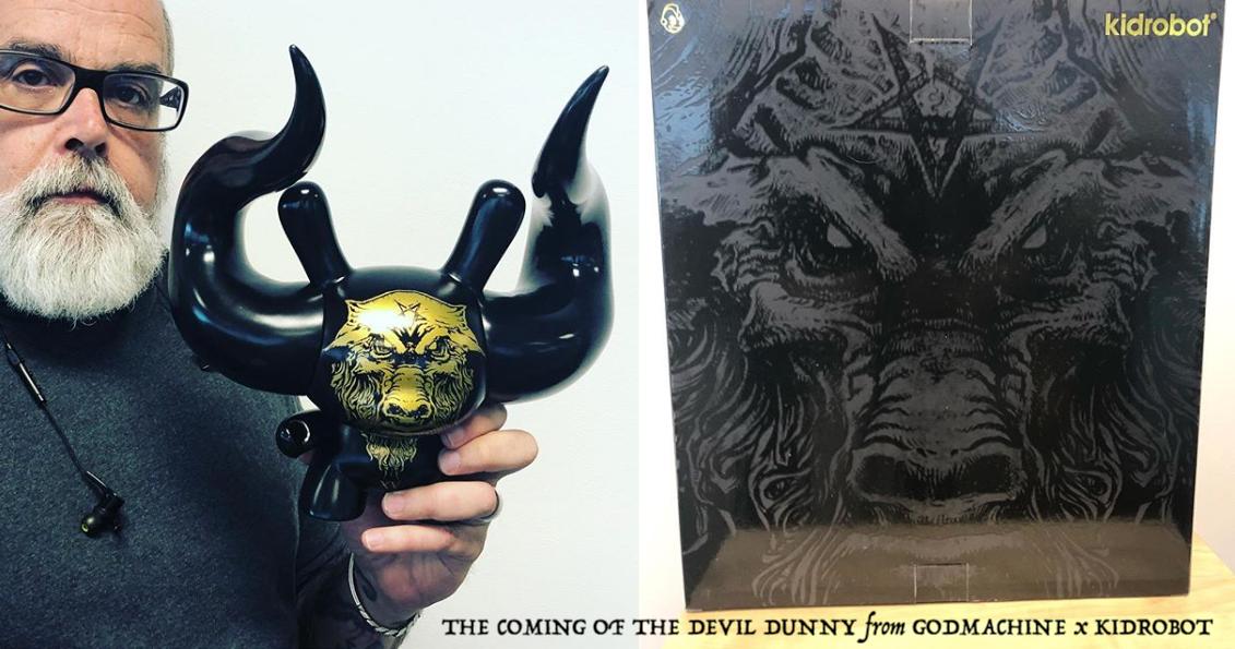 "The Devil White 8/"" Medium Dunny Arcane Divination God Machine Kidrobot Exclusive"