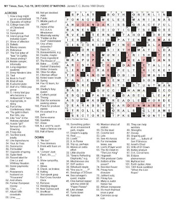 The New York Times Crossword in Gothic: 02.19.12 — Core O