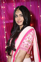 Adaa Sharma in White Pink Saree at Zee Telugu Apsara Awards 2017 14.JPG
