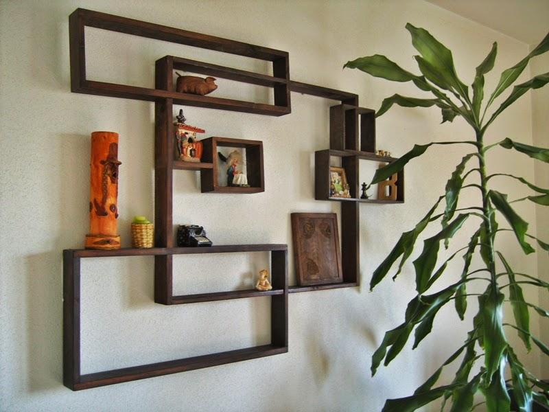 Estanter as de madera una idea para cada espacio - Baldas de diseno ...