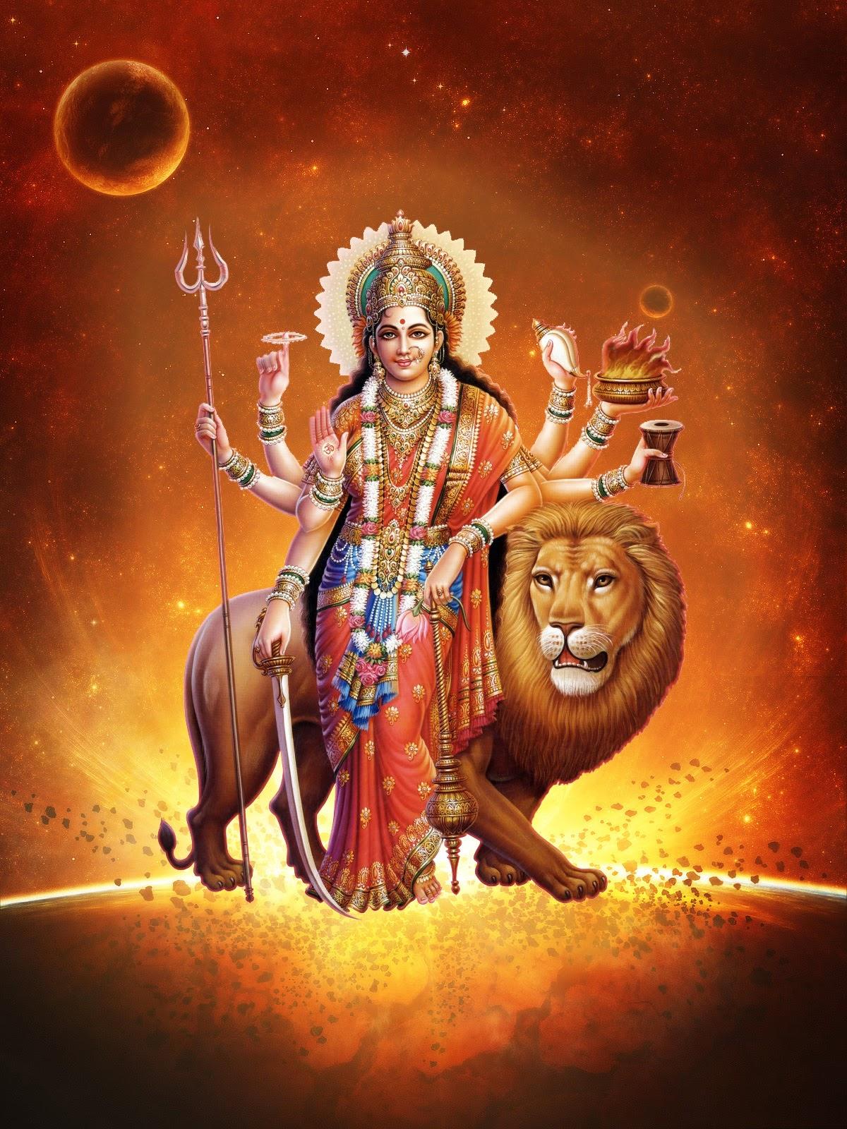 Panchmukhi Ganesh Wallpaper Hd Goddess Maa Durga Devi Hd Wallpapers Images Pictures