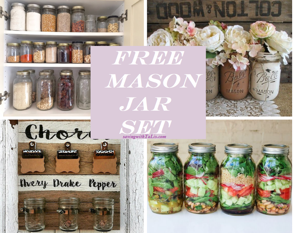 free mason jar set offer. Different uses for mason jars