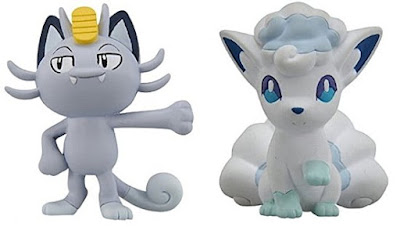 Meowth Vulpix figures Alola Form  Tomy Monster Collection MONCOLLE EX EMC series
