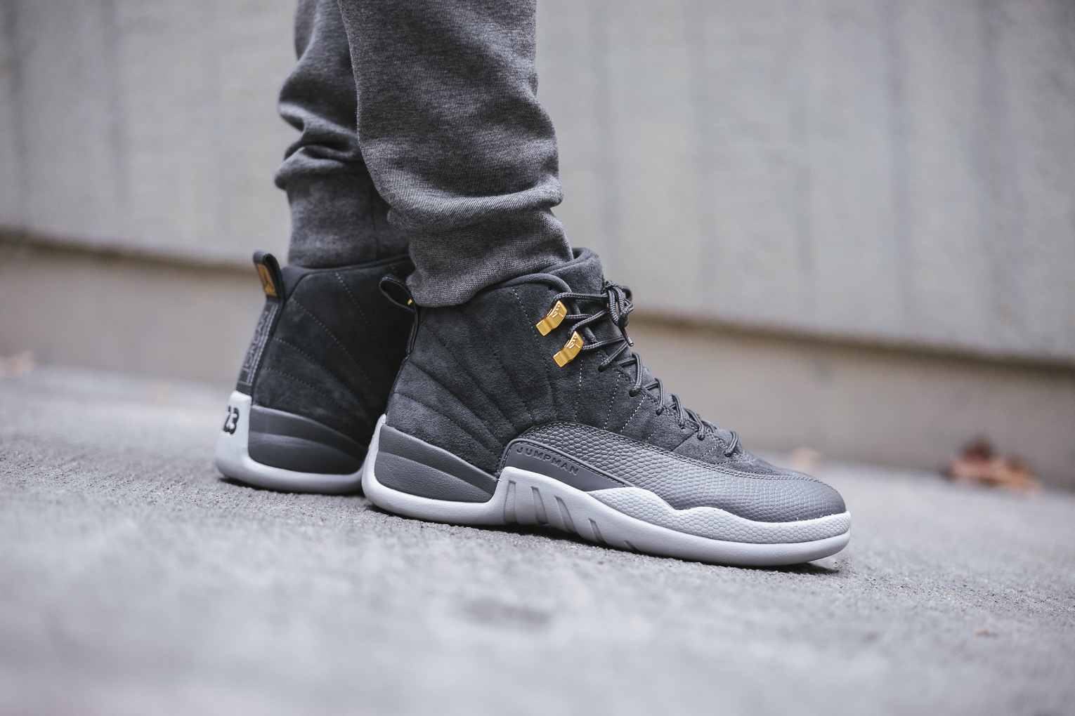 newest 6f01a 73274 ... inexpensive first look nike air jordan 12 retro dark grey 2b1ea df6fa