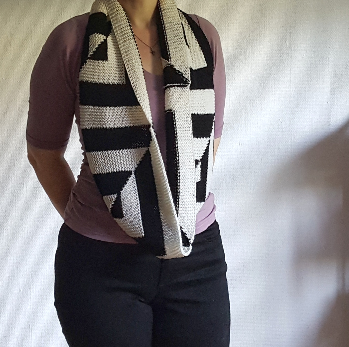 Knitting Wrap And Turn Pick Up : Knitting and so on skew symmtery cowl