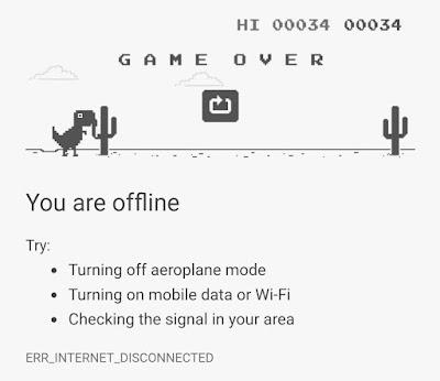 Bete Karna Internet Putus ? Tinggal main aja T-rex