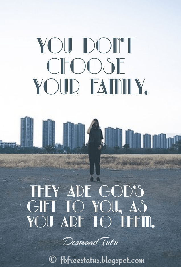Inspirational family quotes with Images