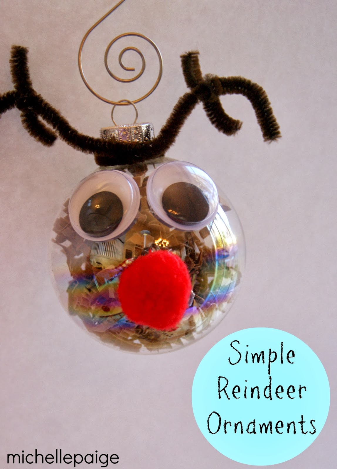paper ball reindeer craft blogs glass reindeer ornaments 5070