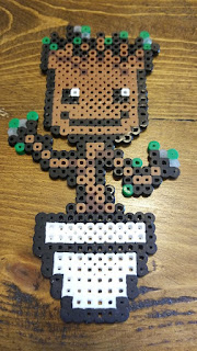 Baby Groot Templates for Cross-stitch or Hama Beads Templates.
