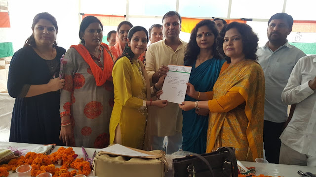 Hundreds of women left the BJP in the Bakhal assembly constituency