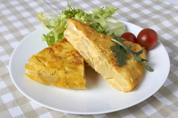 Tortilla de papas light