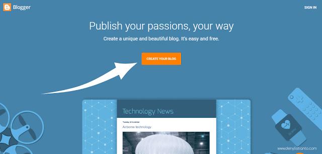 Membuat Blog Langkah 1