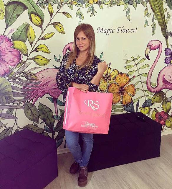 Fernanda Vives en el store de Roxana Salerno