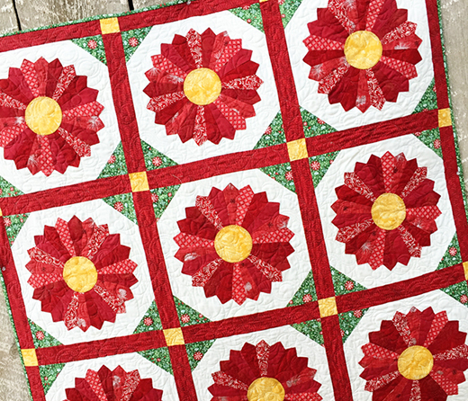 Poinsettia Quilt Free Pattern