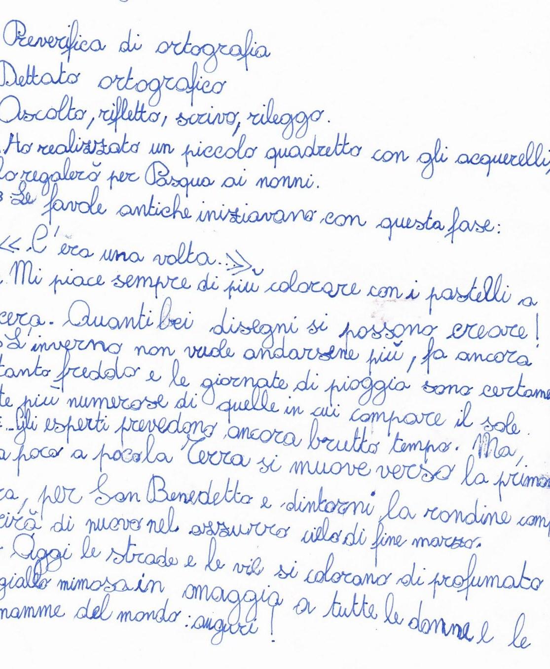 Dettati Ortografici Per La Classe Seconda Della Scuola Primaria