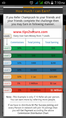live rate and earning chart of champcash