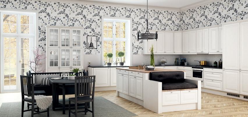El romntico estilo nrdico en la cocina  Cocinas con estilo