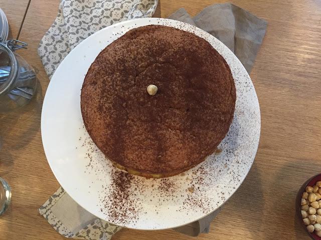 Hazelnut Torte minimalist style